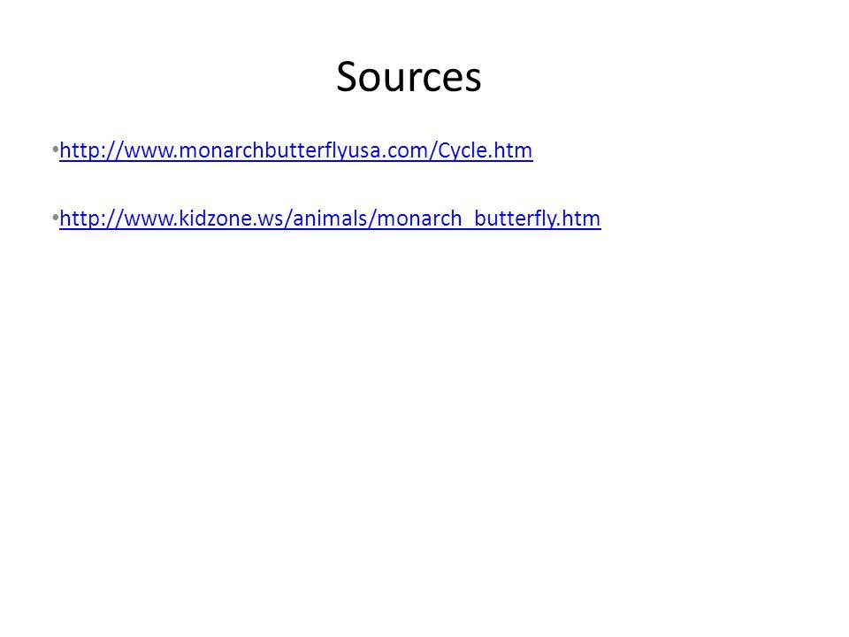 Sources http://www.monarchbutterflyusa.com/Cycle.htm