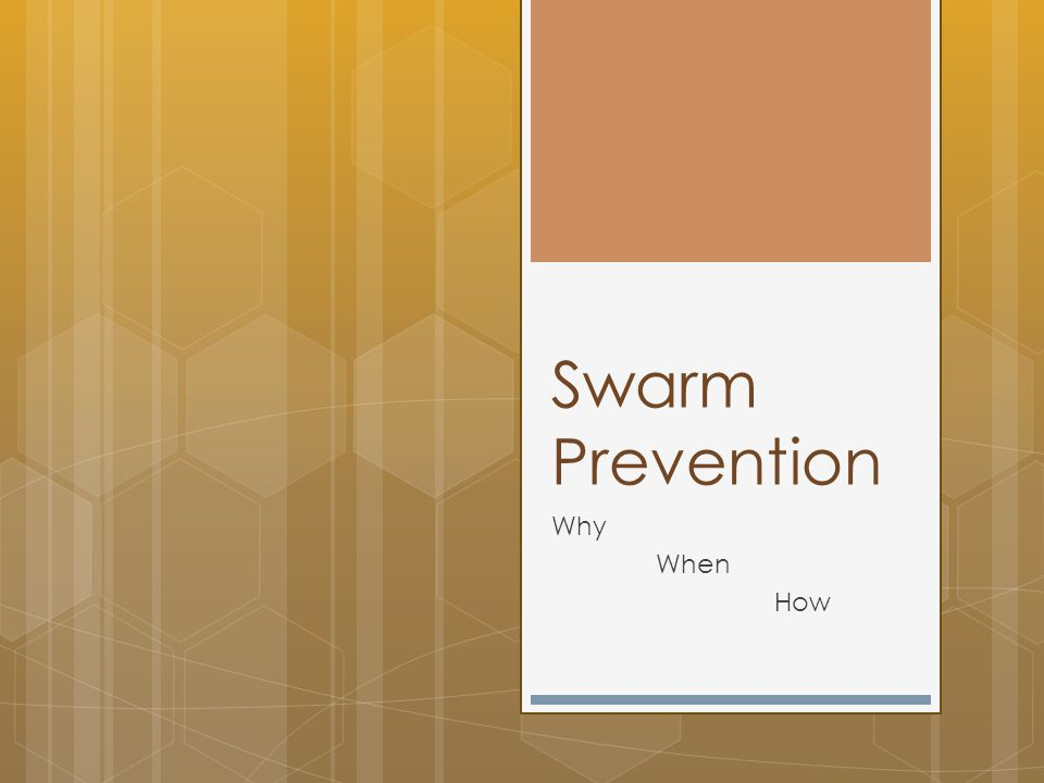Swarm Prevention Why When How