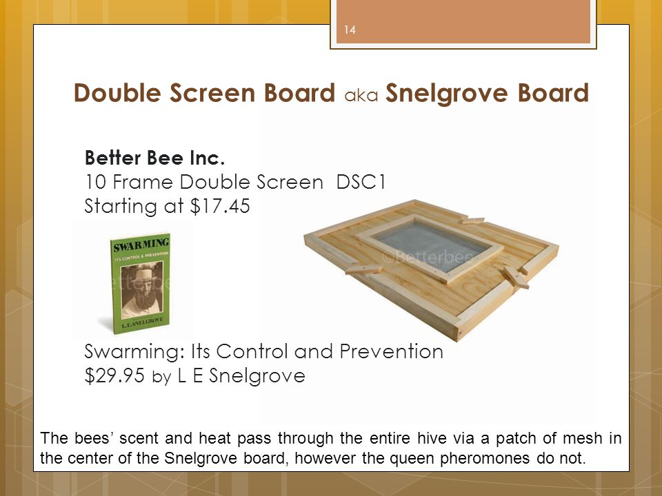 Double Screen Board aka Snelgrove Board