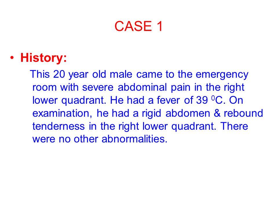 CASE 1 History: