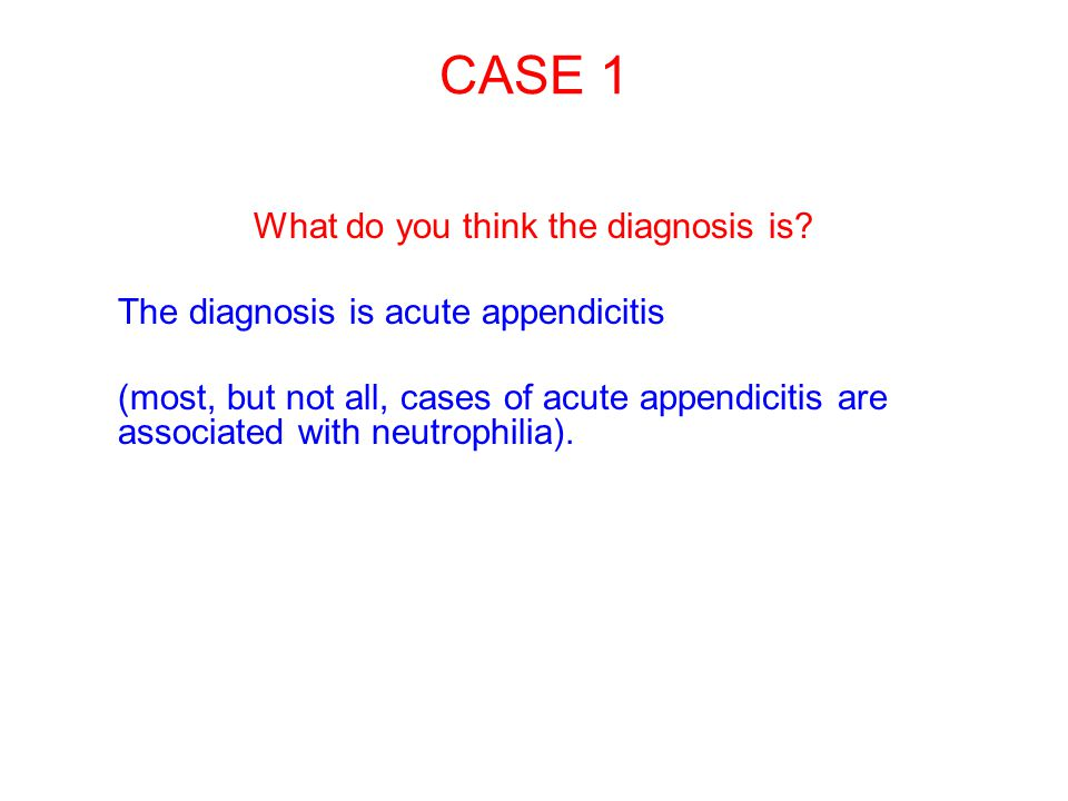 What do you think the diagnosis is