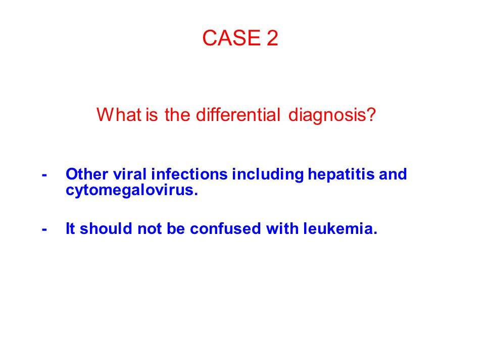 What is the differential diagnosis
