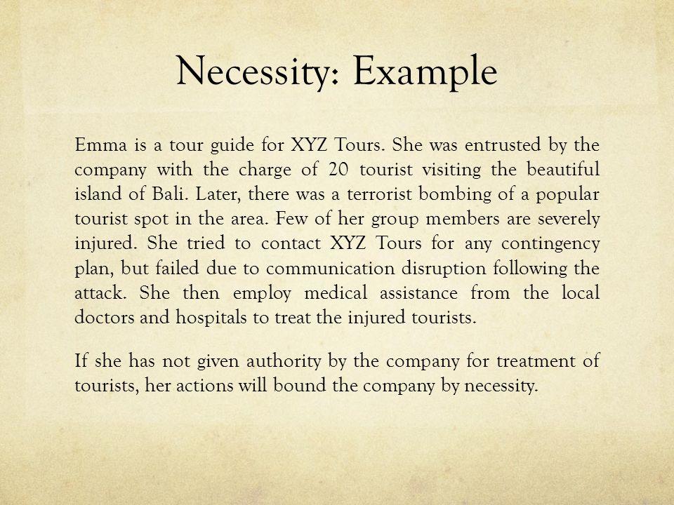 Necessity: Example