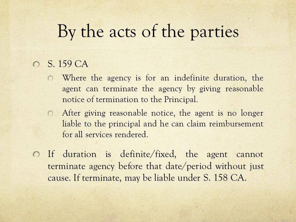 By the acts of the parties