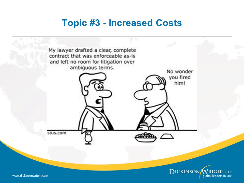 Topic #3 - Increased Costs