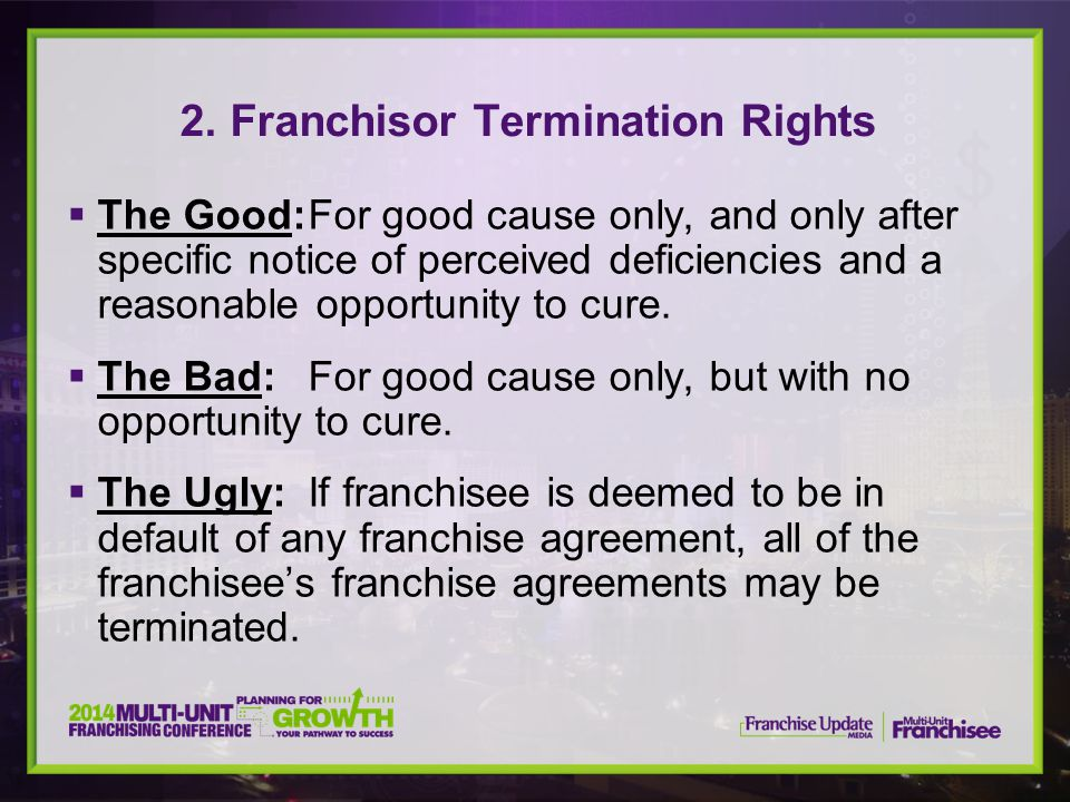 2. Franchisor Termination Rights