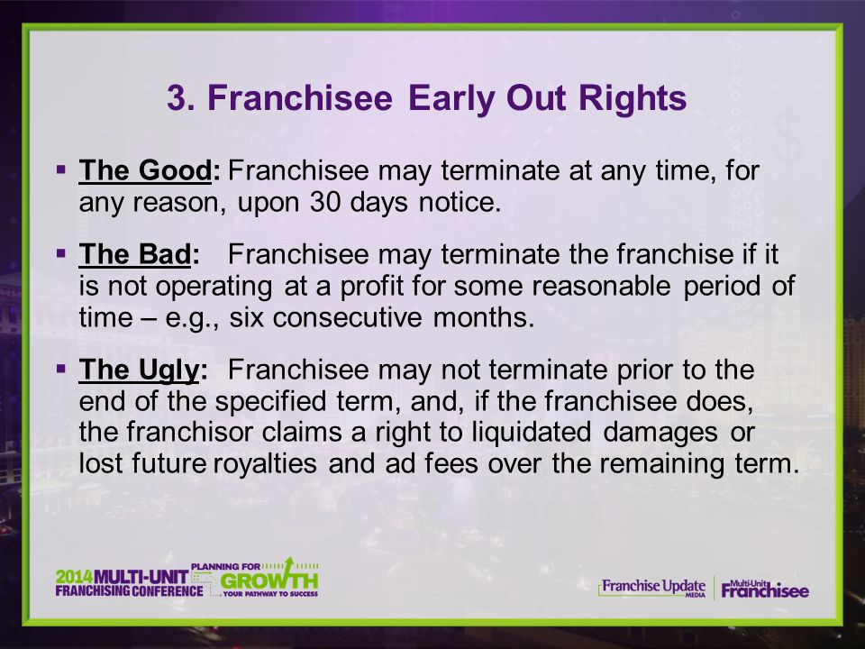 3. Franchisee Early Out Rights