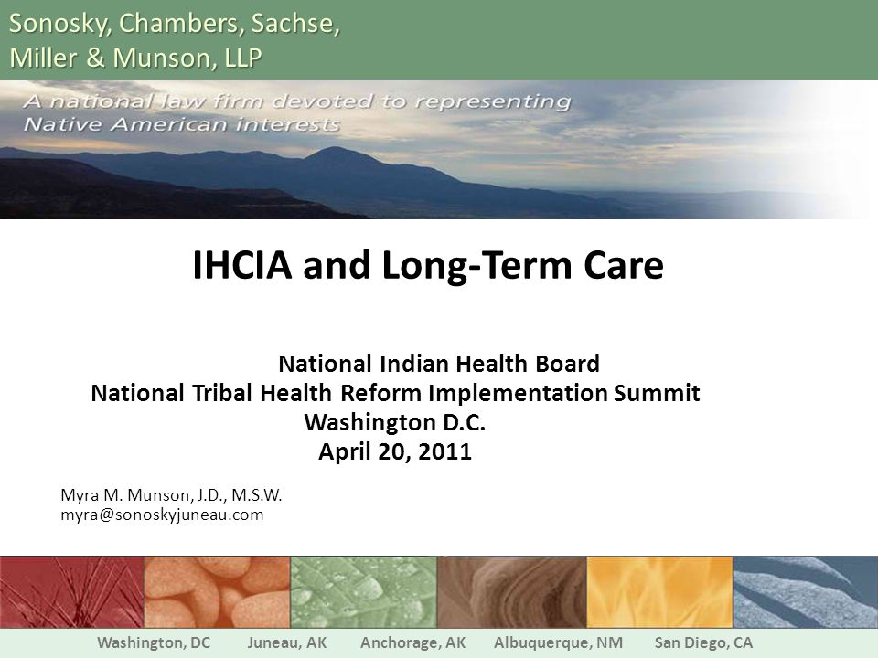IHCIA and Long-Term Care