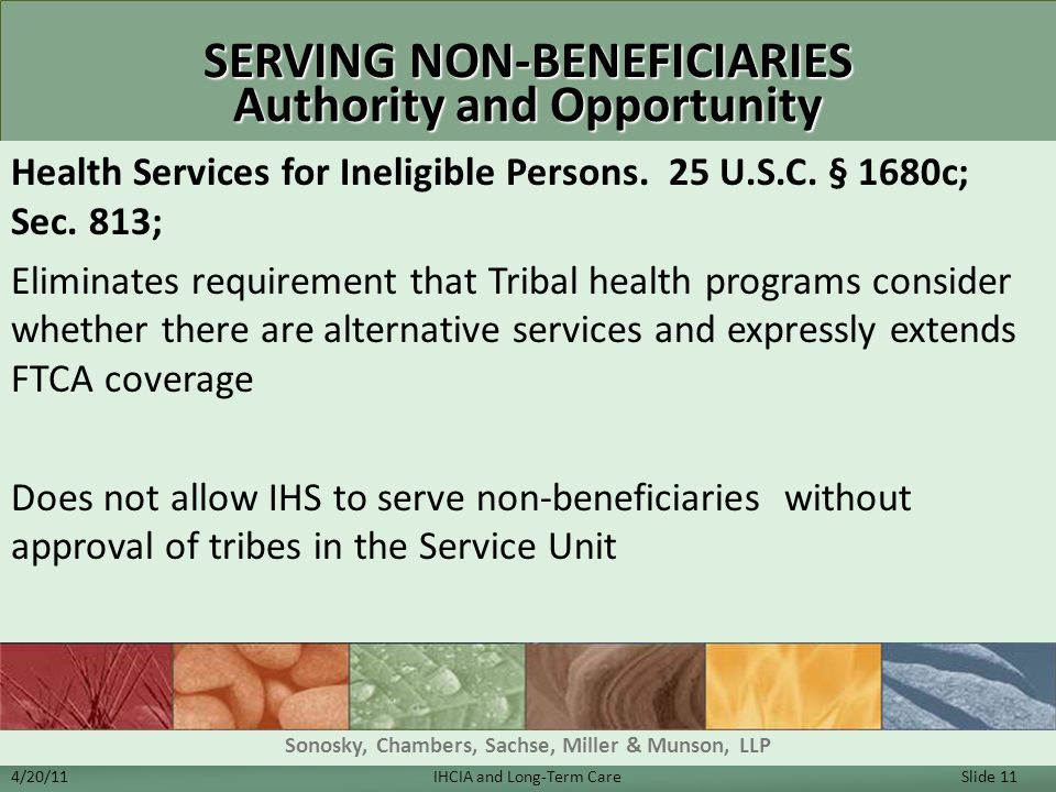 SERVING NON-BENEFICIARIES Authority and Opportunity