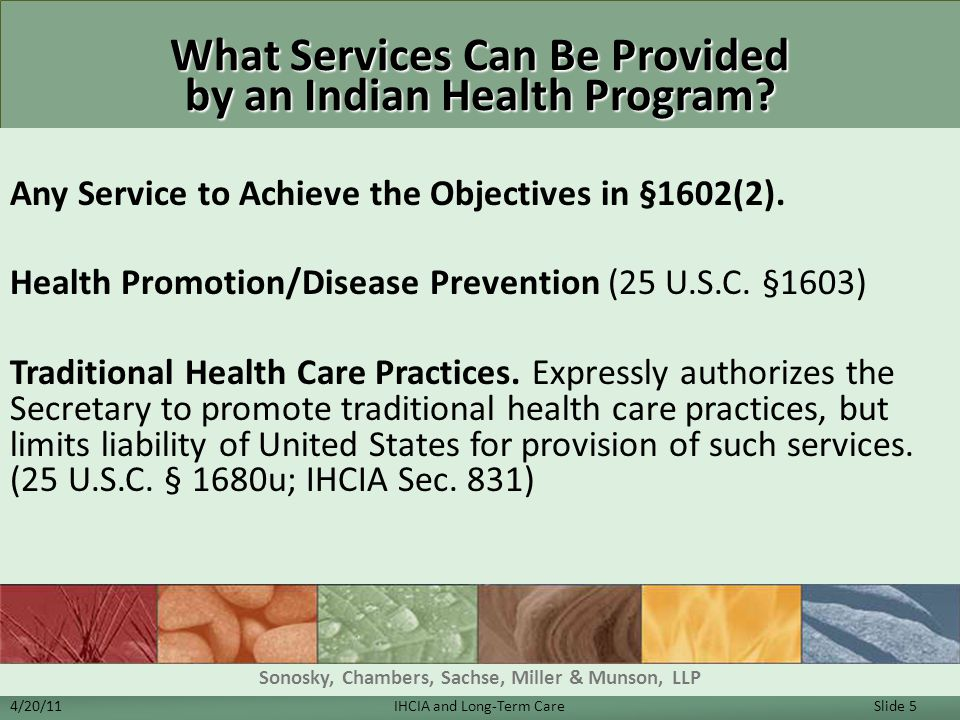 What Services Can Be Provided by an Indian Health Program