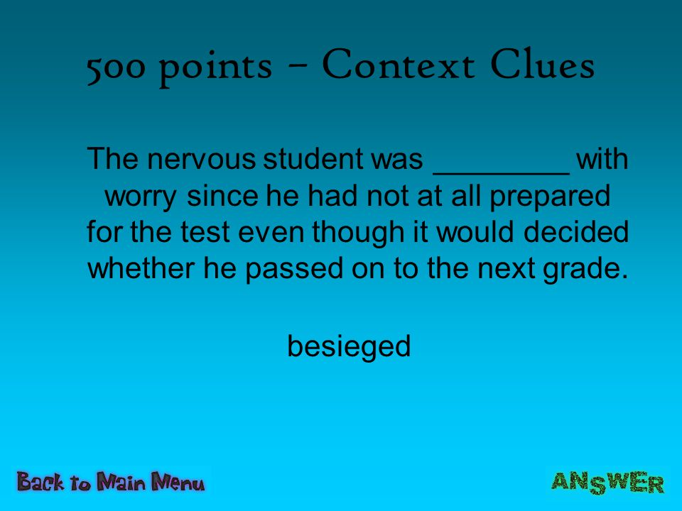 500 points – Context Clues