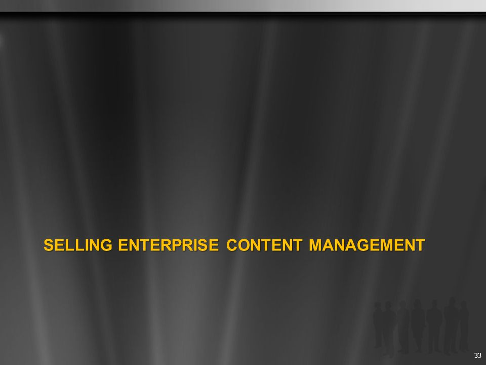 Selling Enterprise content management