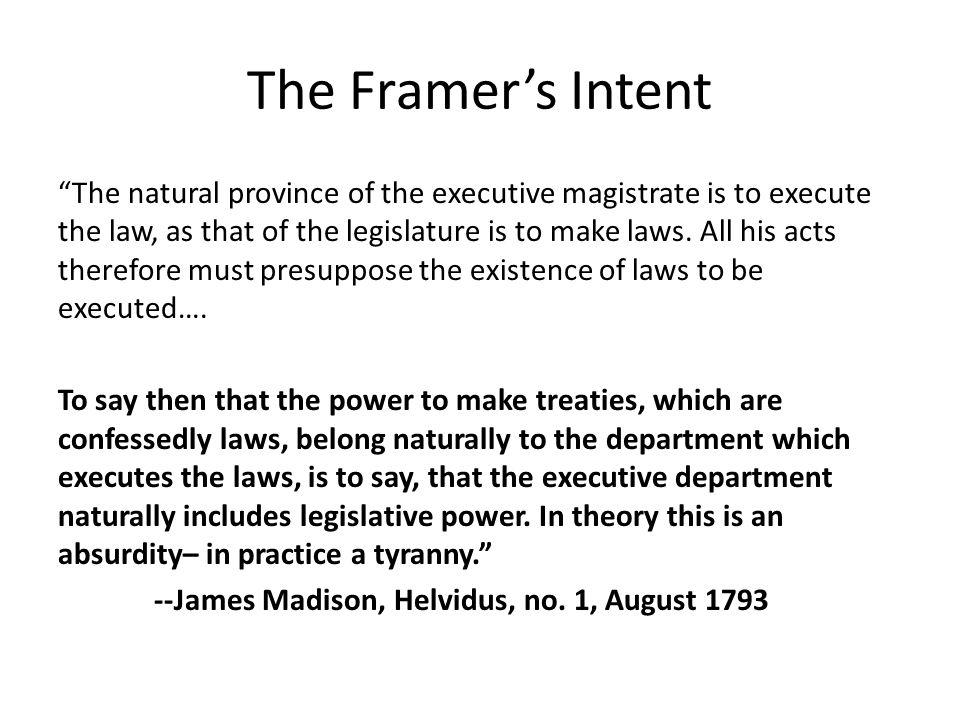The Framer's Intent