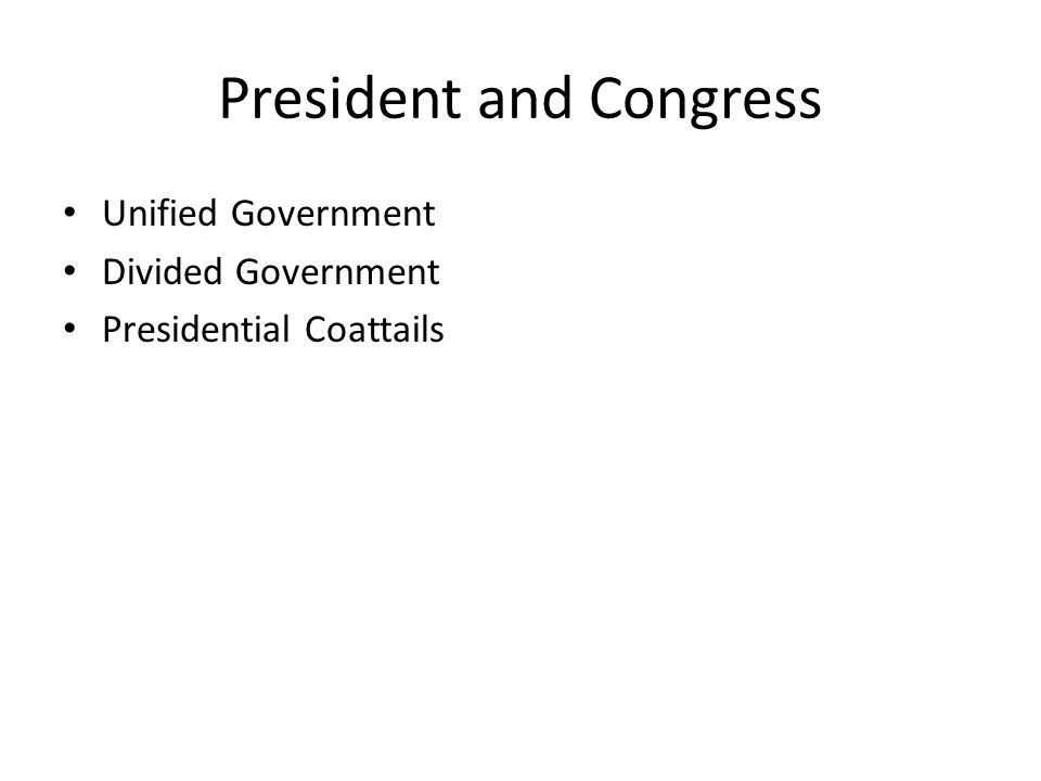 President and Congress