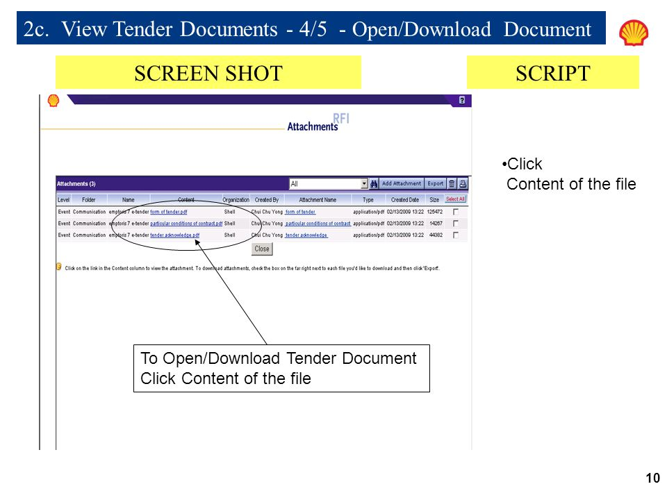 2c. View Tender Documents - 4/5 - Open/Download Document