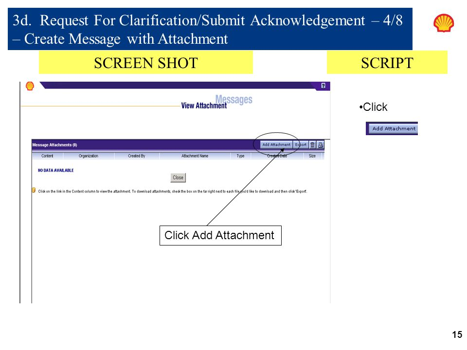 3d. Request For Clarification/Submit Acknowledgement – 4/8 – Create Message with Attachment