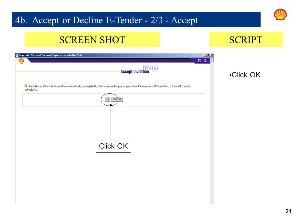 4b. Accept or Decline E-Tender - 2/3 - Accept