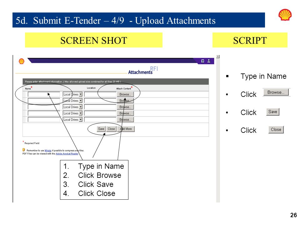 5d. Submit E-Tender – 4/9 - Upload Attachments