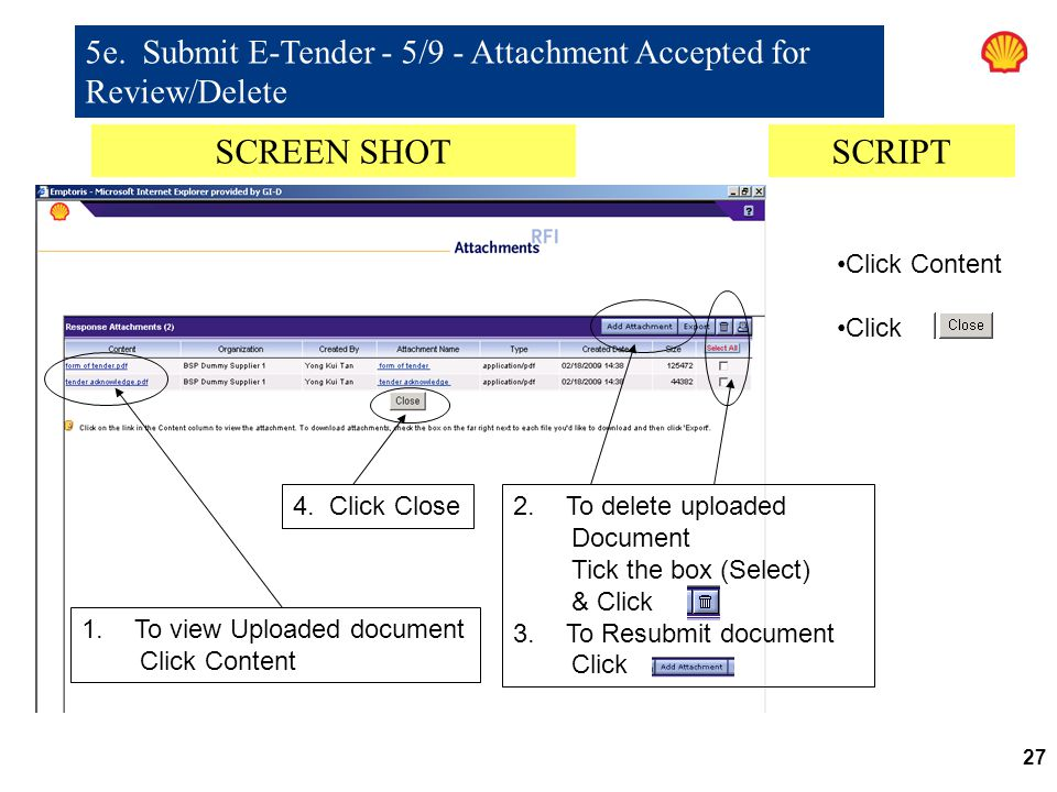 5e. Submit E-Tender - 5/9 - Attachment Accepted for Review/Delete
