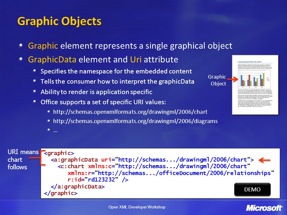 Graphic Objects Graphic element represents a single graphical object