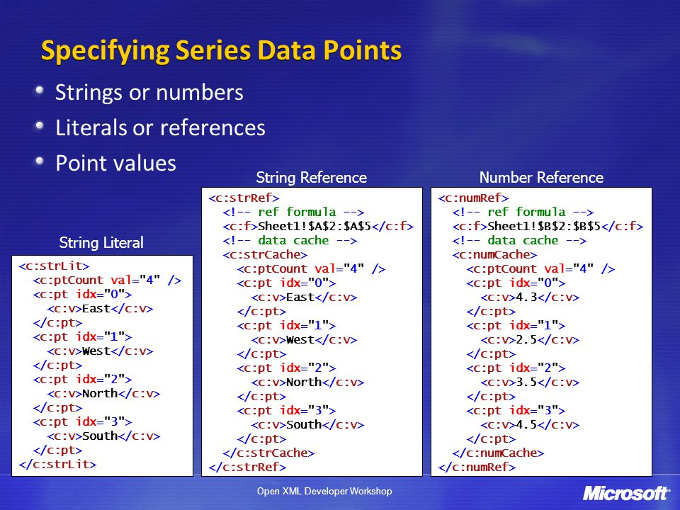 Specifying Series Data Points