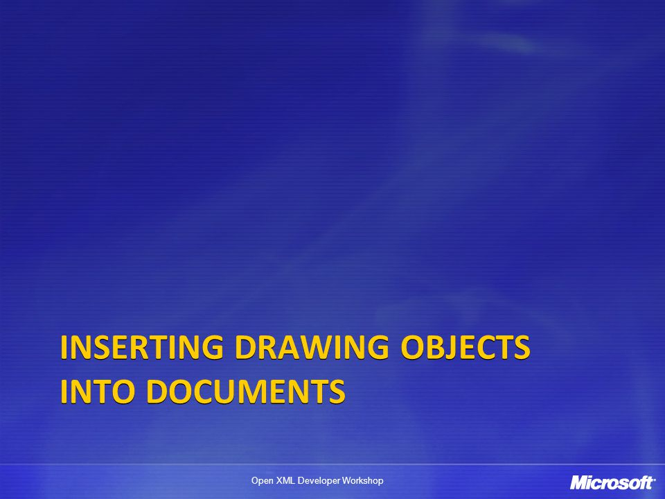 Inserting Drawing Objects into Documents