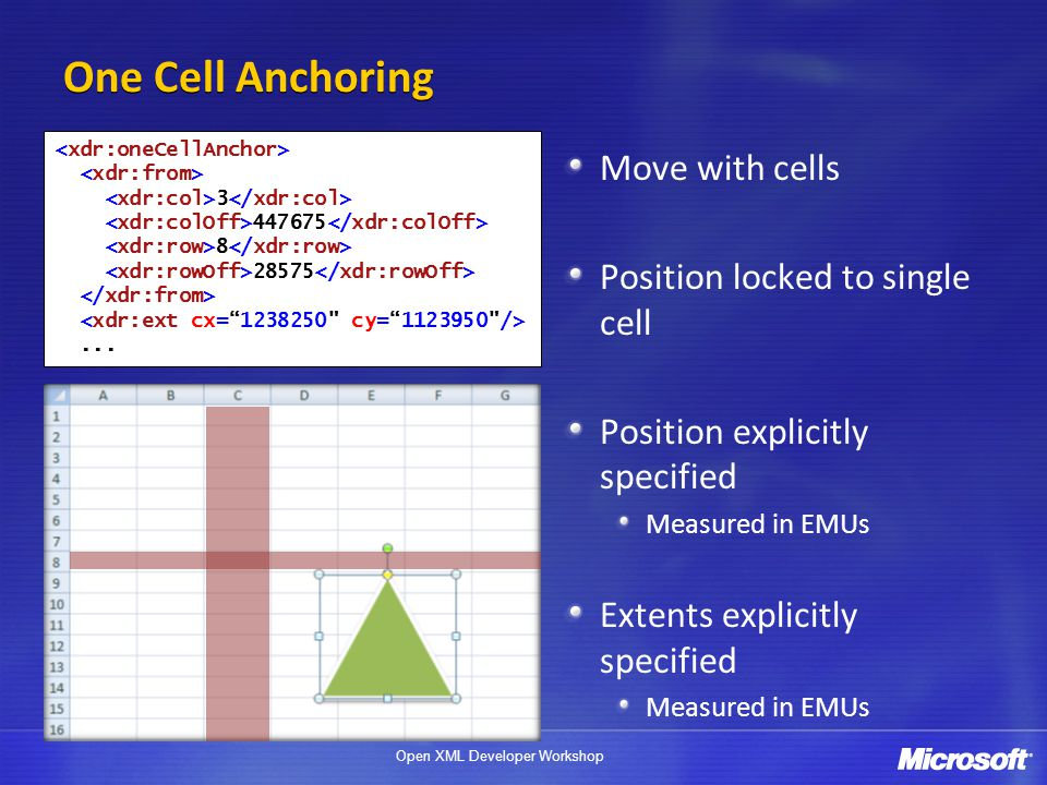 One Cell Anchoring Move with cells Position locked to single cell