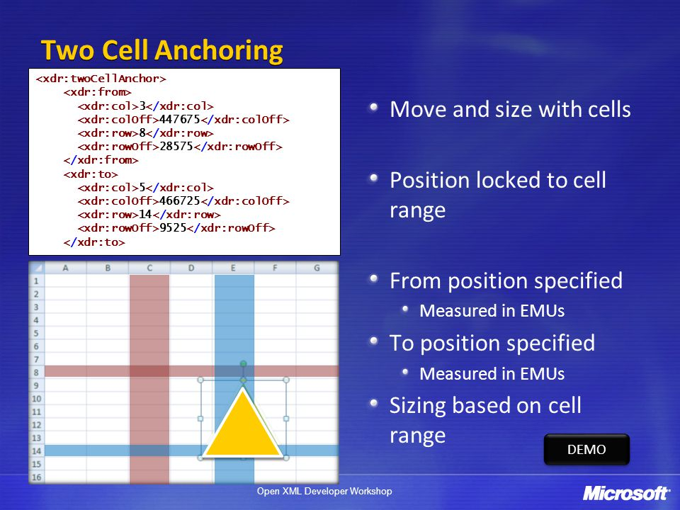 Two Cell Anchoring Move and size with cells