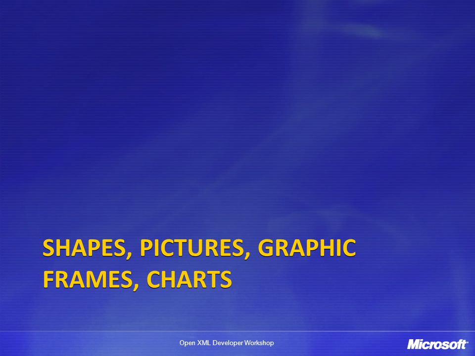 Shapes, Pictures, Graphic Frames, charts