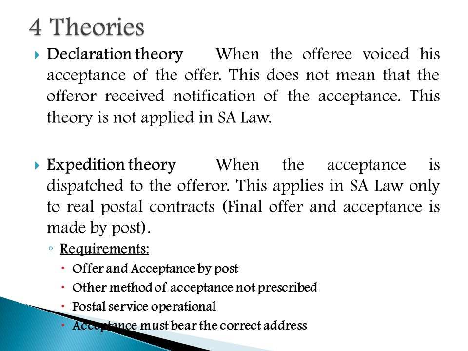 4 Theories