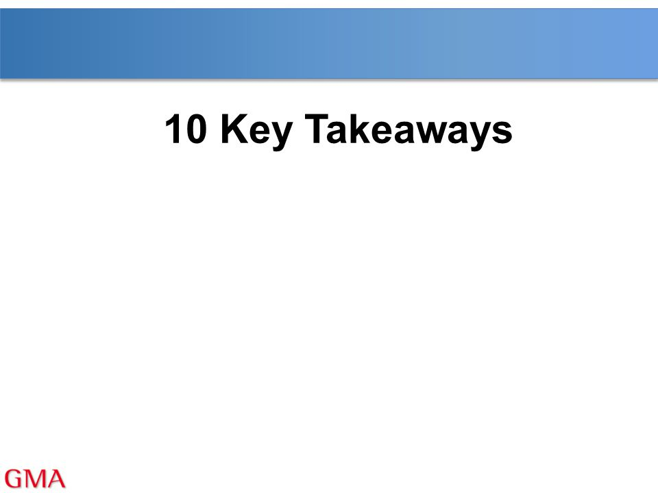 10 Key Takeaways