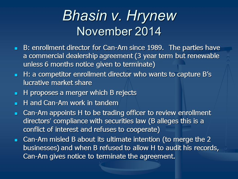 Bhasin v. Hrynew November 2014