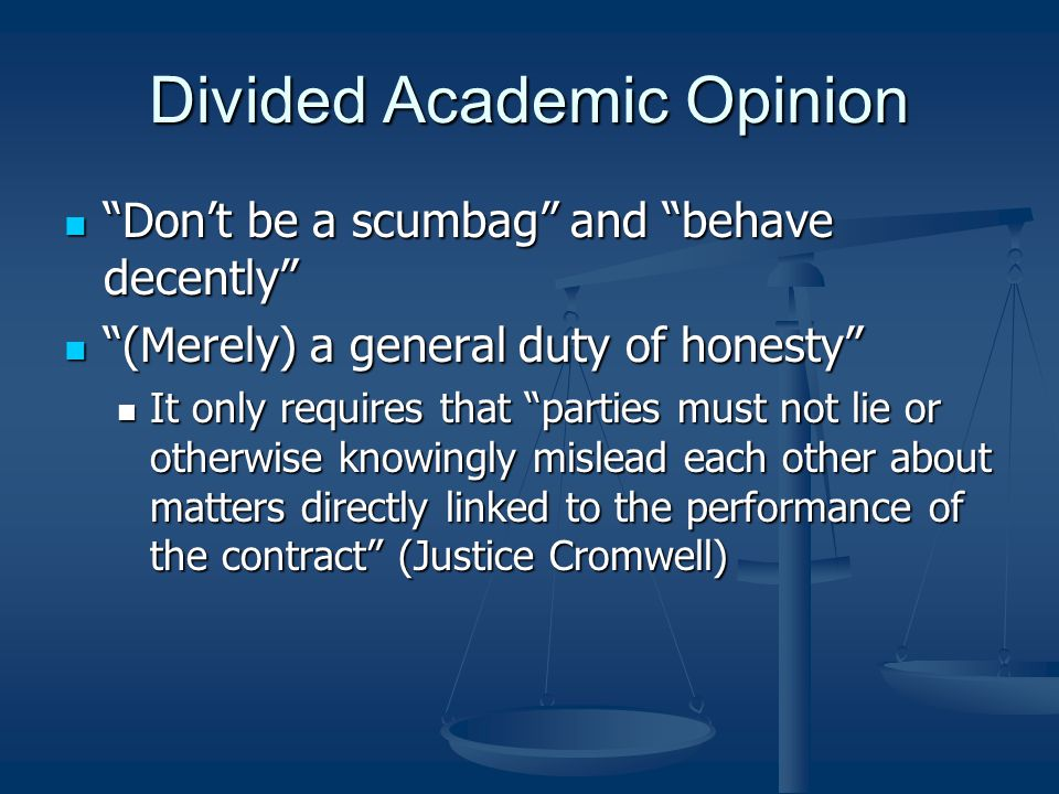 Divided Academic Opinion
