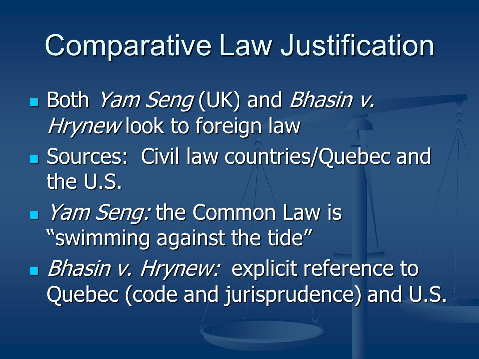 Comparative Law Justification
