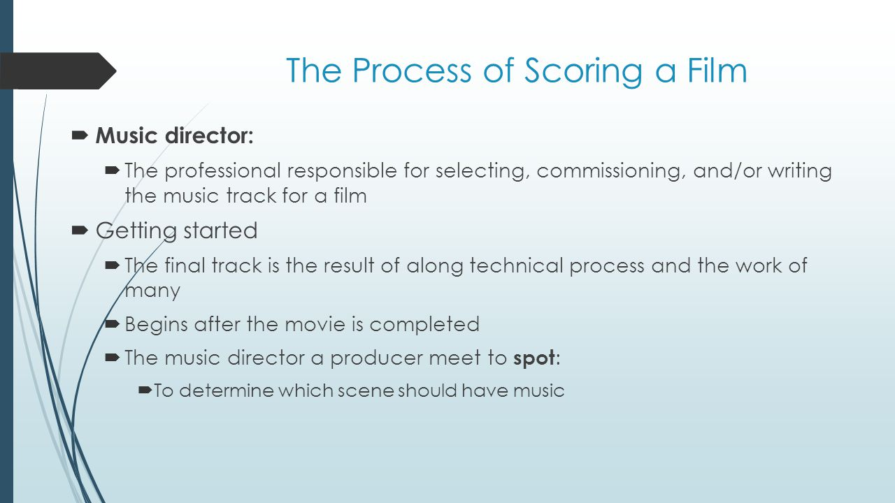 The Process of Scoring a Film