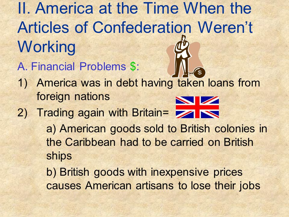 II. America at the Time When the Articles of Confederation Weren't Working