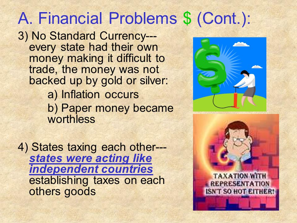 A. Financial Problems $ (Cont.):