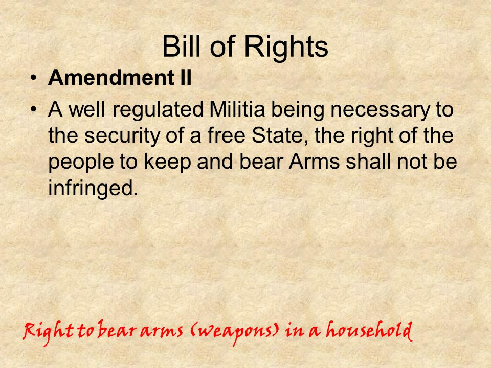 Bill of Rights Amendment II