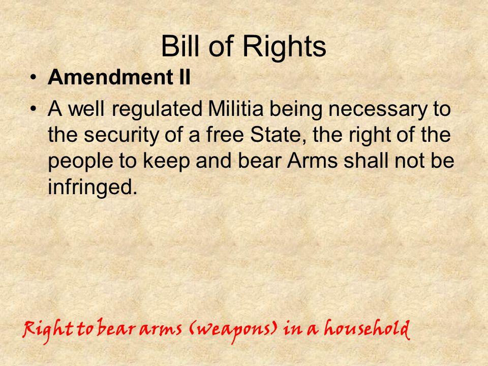 Bill of Rights Amendment II