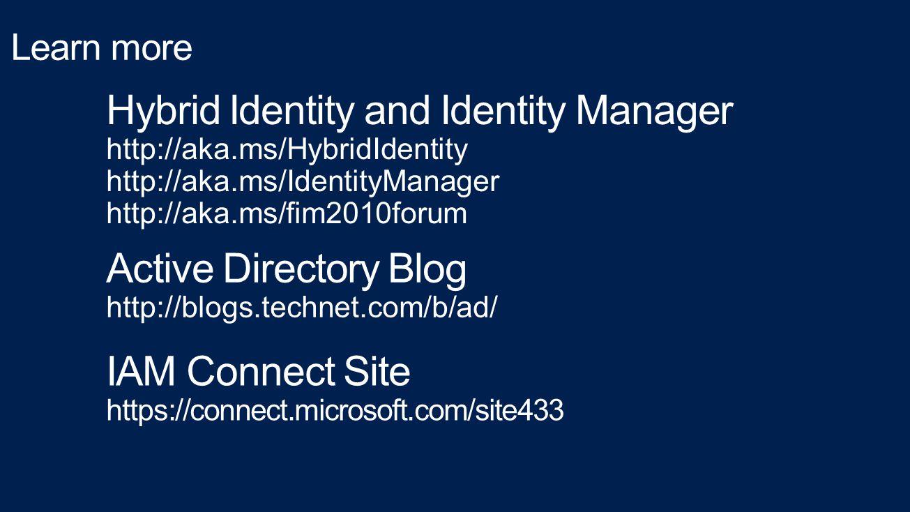 Hybrid Identity and Identity Manager