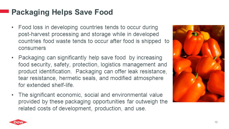 Packaging Helps Save Food