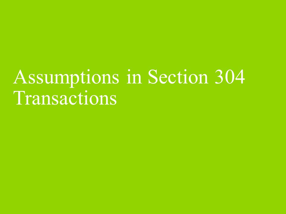 Assumptions in Section 304 Transactions -- Transferor Corporation Treatment