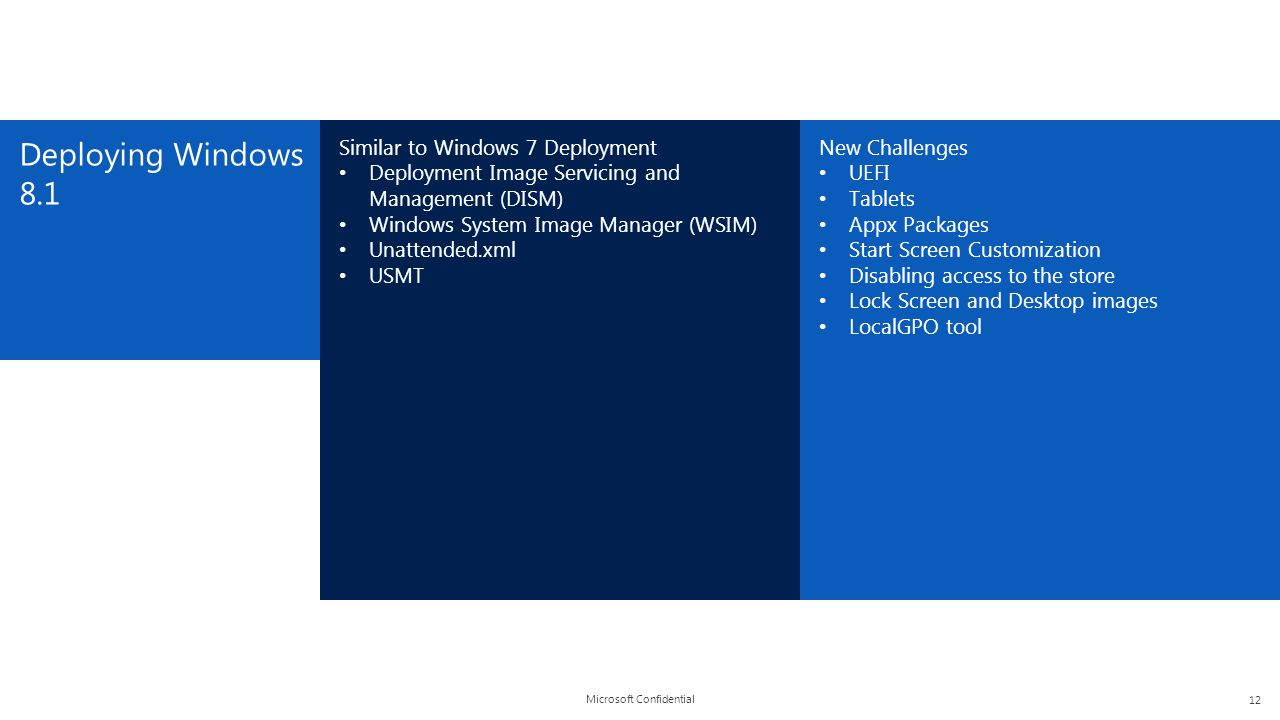 Deploying Windows 8.1 Similar to Windows 7 Deployment