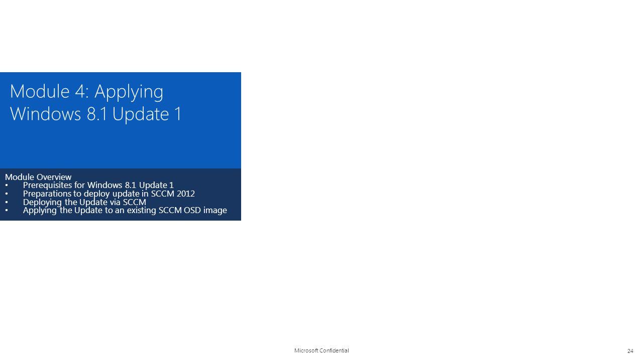 Module 4: Applying Windows 8.1 Update 1