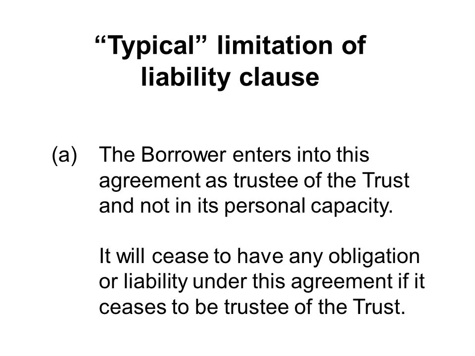 Typical limitation of liability clause