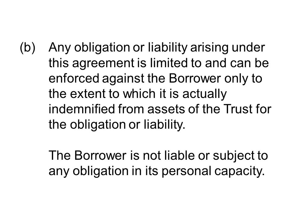 (b). Any obligation or liability arising under
