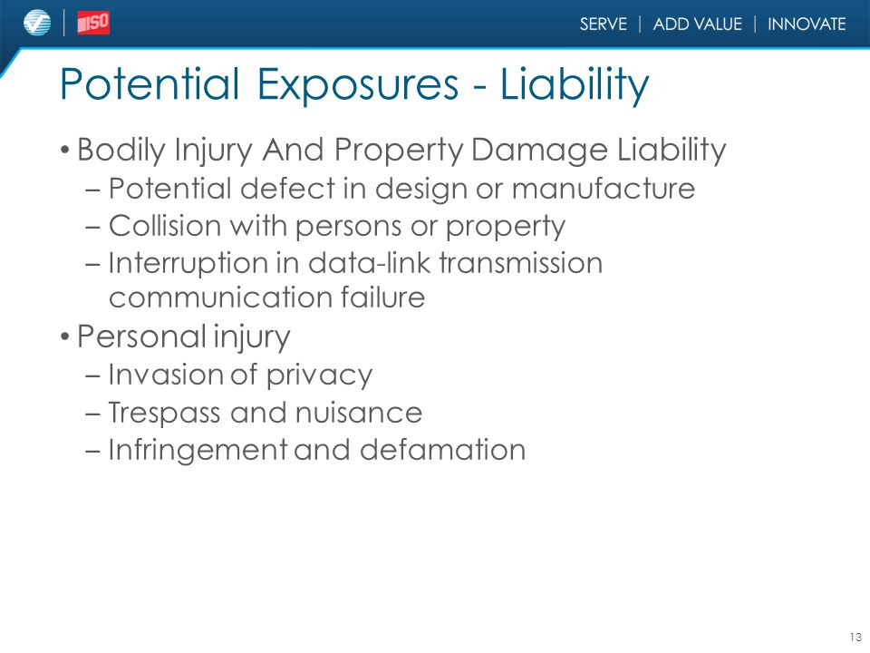 Potential Exposures - Liability