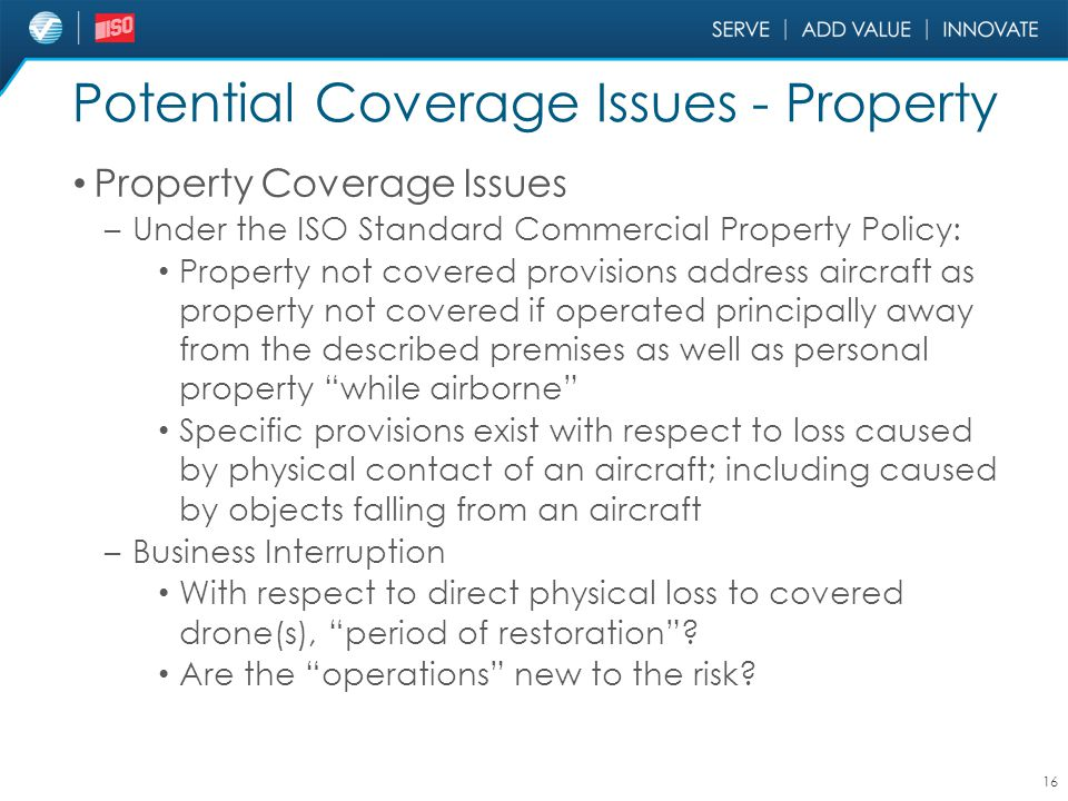 Potential Coverage Issues - Property
