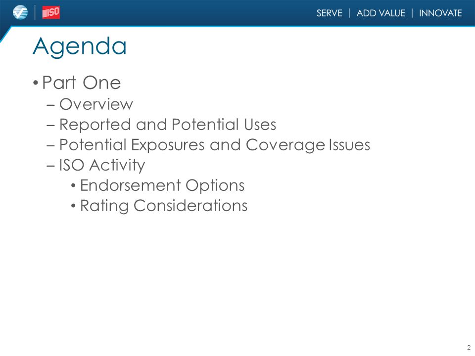 Agenda Part One Overview Reported and Potential Uses