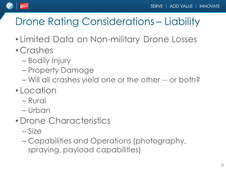 Drone Rating Considerations – Liability